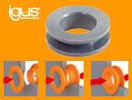 静音で自己潤滑性に優れ、電着塗装可能 イグリデュール スナップ式ベアリング