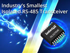 堅牢性の高い絶縁型RS-485トランシーバ:ISL32704E