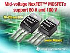 高電流モーター制御/電源設計向け40V~100V