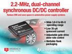 65V対応の2.2MHz、2チャネル内蔵同期整流降圧型コンバータ