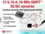 12V入力、出力電流10A、10MHz動作の超小型DC/DC降圧コンバータ