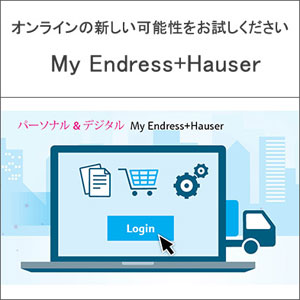 必要情報にいつでもアクセス Endress+Hauser