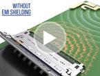 ノイズ対策に最適な、EMIシールド付き高速伝送用細線同軸コネクタ