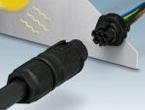 屋外使用や過酷な使用条件に適した産業用丸型防水コネクタ「PRCシリーズ」