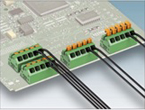 低背型プッシュイン機能付きスプリング接続式端子台